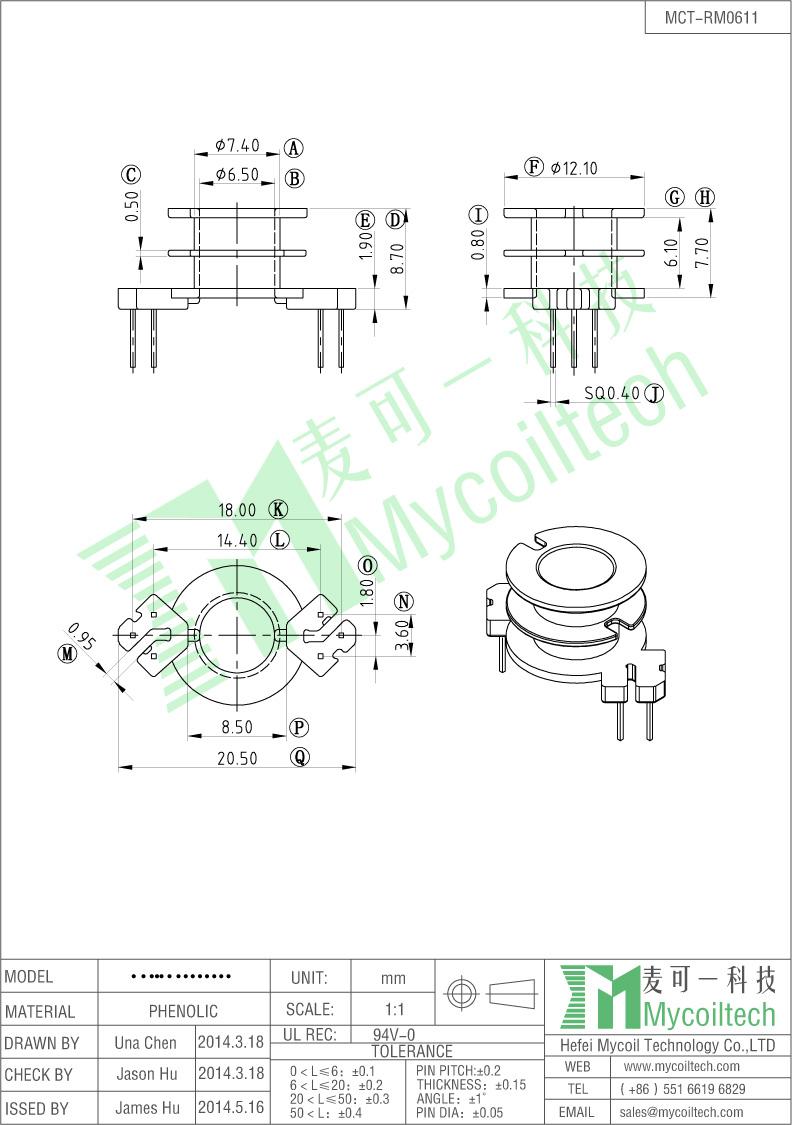 high quality RM6 bobbin transformer bobbin manufacturer