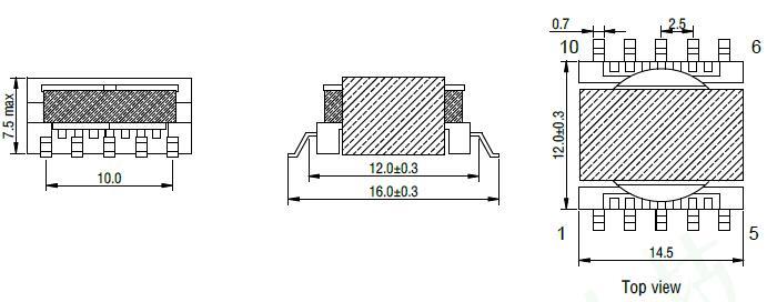 ER14.5 SMD surface mount transformer factory