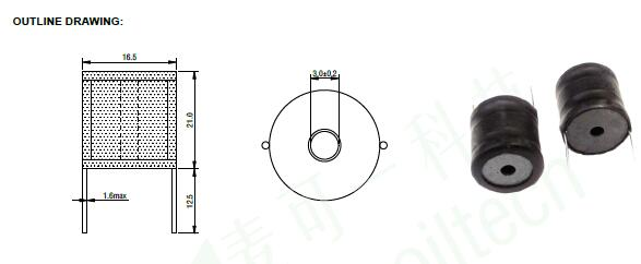 Radial Inductor/Through Hole Drum Core Inductor 4.7uH