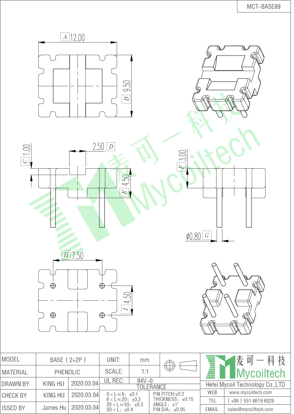 Toroidal inductor base