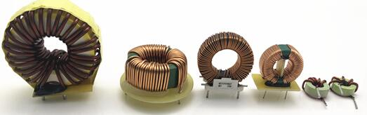 Toroidal choke coil inductor