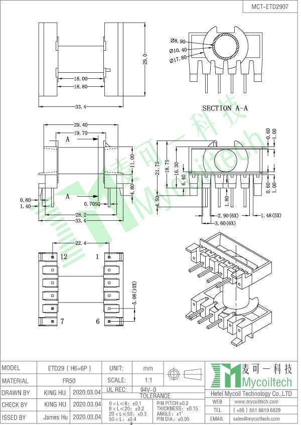 ETD29 horizontal bobbin