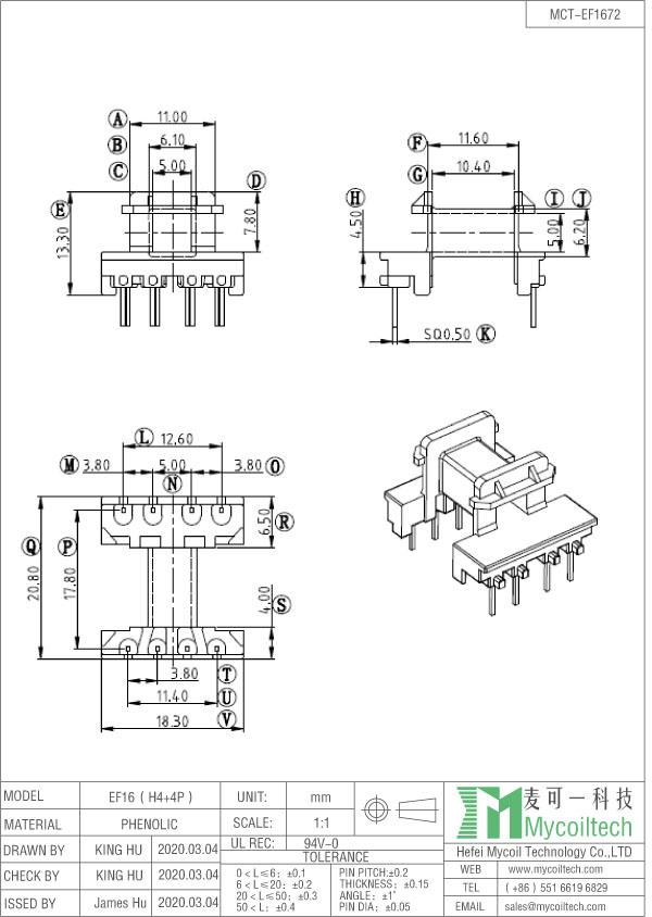 EF16 coil former factory