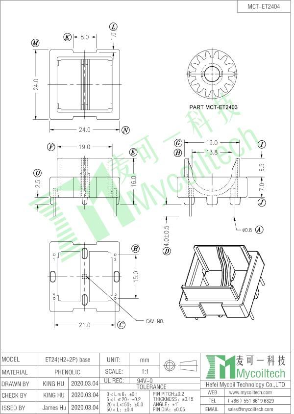 ET24 coil former supplier