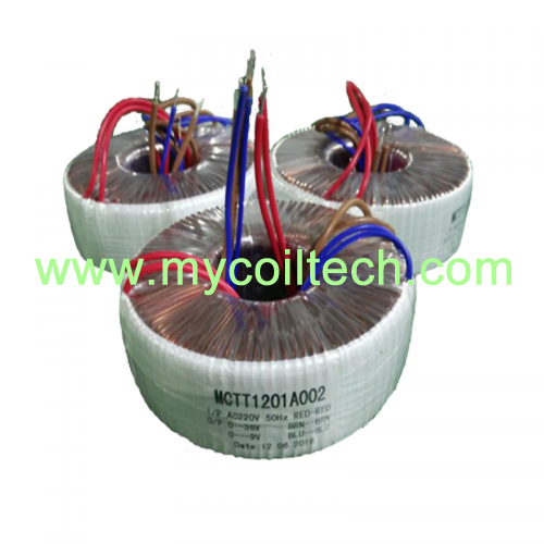 Safely Low Voltage Toroidal Transformer for Monitoring and Control Equipment
