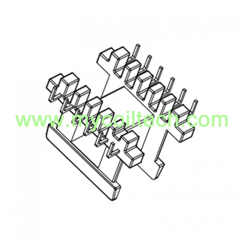 EE Type Horizontal Bobbin 6+6 Pins Transformer Bobbin