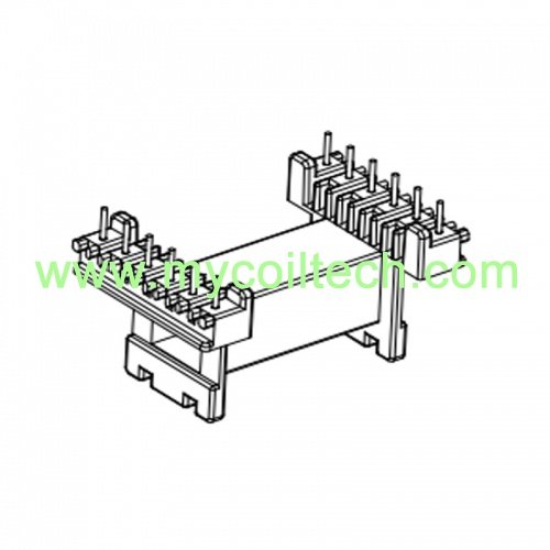 6+6 Pins Horizontal Bobbin EE Type Transformer Bobbin
