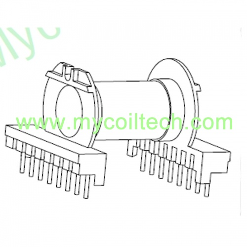 ER40 Horizontal High Frequency Transformer Bobbin 8+8 Pins