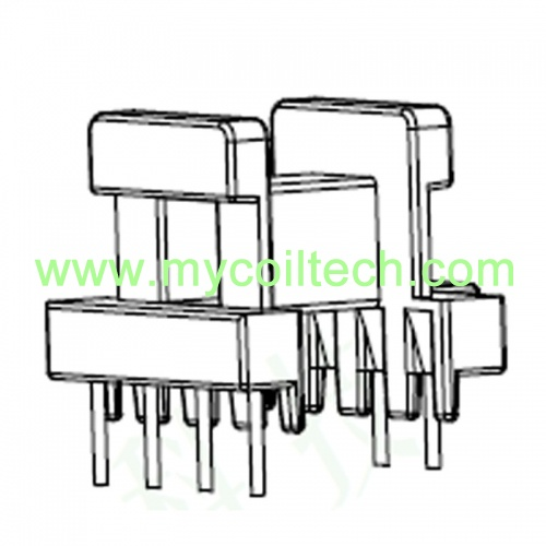 EE19 High Frequency Transformer 6 Pins Horizontal Coil Former