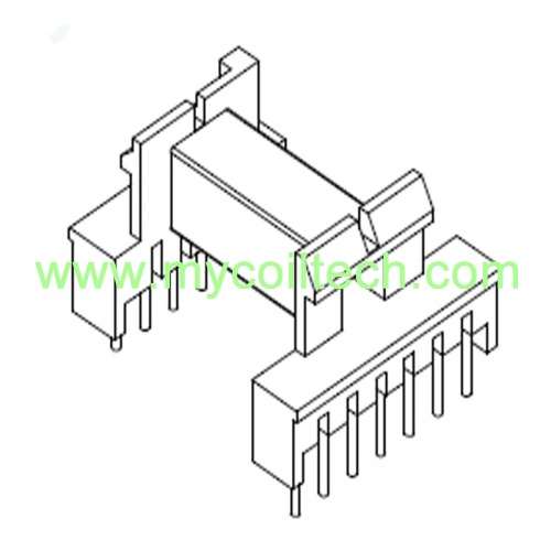 EEL19 Electronic Horizontal Transformer Bobbin Pin 5+7