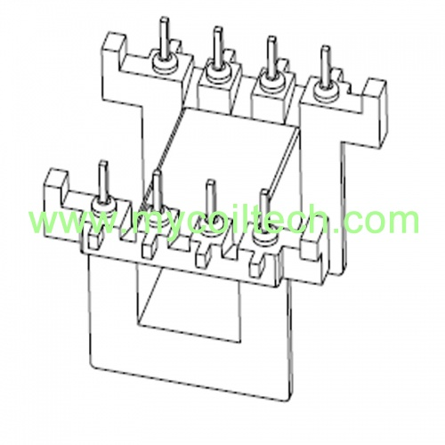 EVD25 Horizontal Transformer Bobbin 4+4 Pin