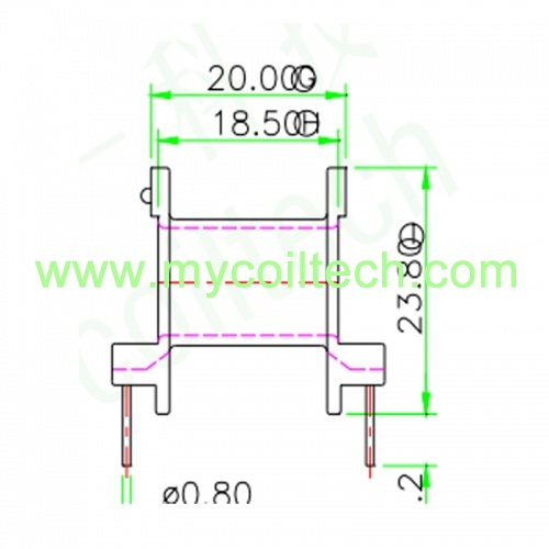 ER28 5+5 pin Horizontal Transformer Bobbin