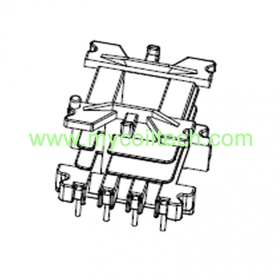 Bobbins | EF25 High Frequency Transformer Vertical Bobbin Pin 4+4